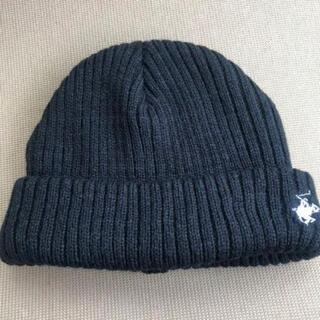 シマムラ(しまむら)の新品 ポロ ニット帽 ブラック(ニット帽/ビーニー)