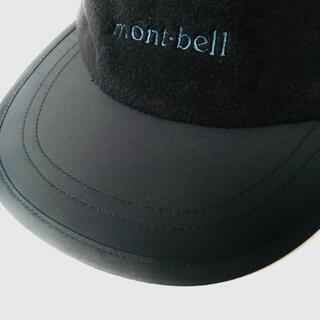 モンベル(mont bell)の90s mont-bell モンベル アウトドア フリース キャップ 帽子 黒(キャップ)