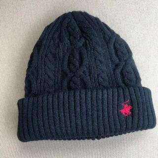 シマムラ(しまむら)の新品 ニット帽 ポロ ブラック(ニット帽/ビーニー)
