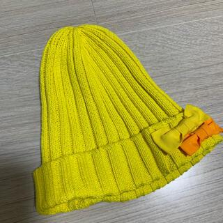 ジーユー(GU)のリボン付きニット帽(帽子)