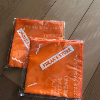 フリークスストア(FREAK'S STORE)のフリークスストア  新品未開封2枚バンダナ オレンジ色(バンダナ/スカーフ)