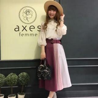 アクシーズファム(axes femme)のaxes femme ベルト付き切替スカート(ロングスカート)