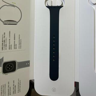 アップルウォッチ(Apple Watch)のアップルウォッチ スポーツバンド 40mm  純正 ブラック m/l(ラバーベルト)