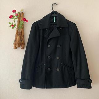 ジーユー(GU)の【値引】GU ♡ Pコート 黒 ベーシック S アウター(ピーコート)