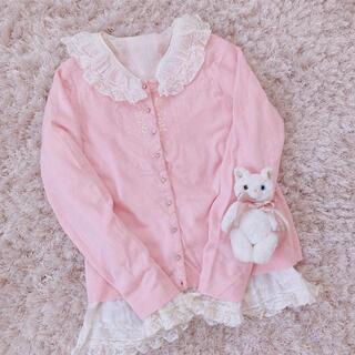 エディットフォールル(EDIT.FOR LULU)の本日限定 レア baby pink tops(カーディガン)