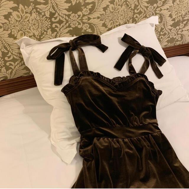 ribbon velours antique one-piece♡ レディースのワンピース(ロングワンピース/マキシワンピース)の商品写真