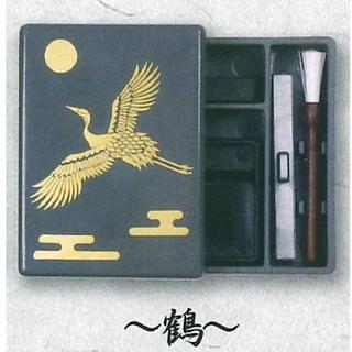 ミニチュア 習字 セット  鶴(書道用品)