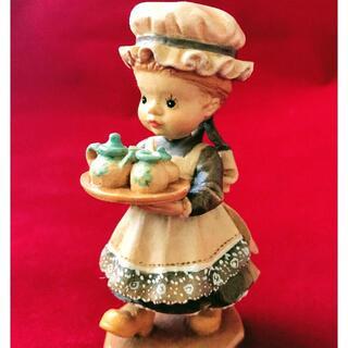 【ANRI アンリ 木彫り人形】サラケイ 10センチ《Tea Time》(人形)