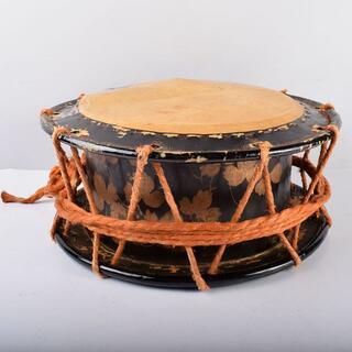 和楽器 和太鼓 締太鼓 鉄製胴 蒔絵胴 C R3196B(和太鼓)