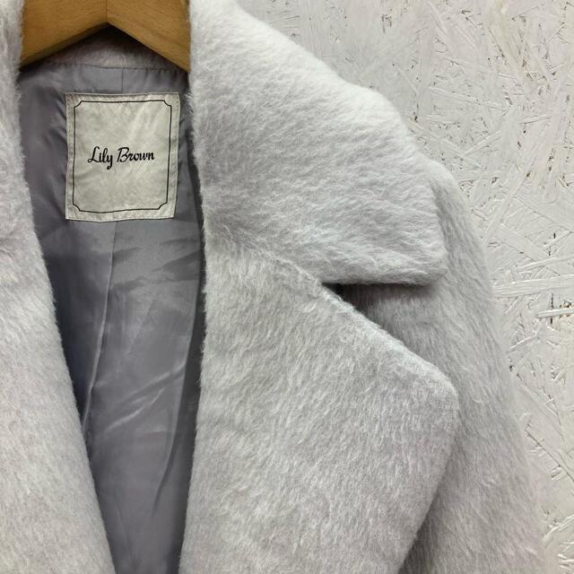 Lily Brown(リリーブラウン)のLily Brown チェスターコート シャギーウールライク レディースのジャケット/アウター(チェスターコート)の商品写真
