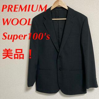 ユニクロ(UNIQLO)のユニクロ ストレッチ ウール ジャケット Super100's  黒(スーツジャケット)