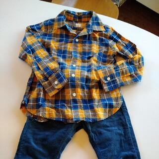 ギャップ(GAP)の新品 GAP ギャップ ネルシャツ シャツ 120(ブラウス)