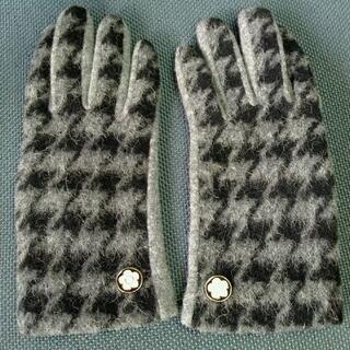 マリークワント(MARY QUANT)のマリークワント・手袋(グレー地x黒千鳥柄)(手袋)