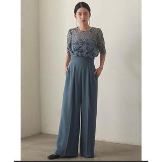 ラグナムーン(LagunaMoon)のLAGUNAMOON オーバーレースワイドパンツドレス Mサイズ(オールインワン)