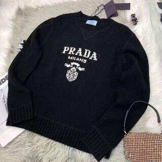 プラダ(PRADA)のPRADA★ ウールとカシミアのクルーネックセーター(ニット/セーター)