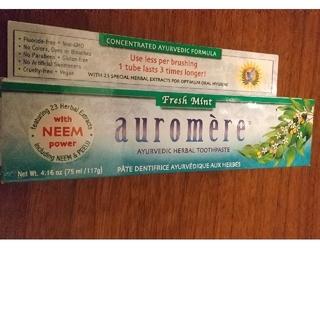 オーロメア(auromere)のauromea オーロメア 歯みがき粉 フレッシュミント 117g(歯磨き粉)