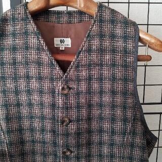 DRIES VAN NOTEN - DRIES VAN NOTEN wool tweed check vest