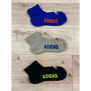 adidas - adidas アディダス ボーイズソックス 21〜23センチ 3足セット!