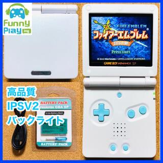 ゲームボーイアドバンス(ゲームボーイアドバンス)のゲームボーイアドバンスsp バックライト ホワイト×ブルー(携帯用ゲーム機本体)