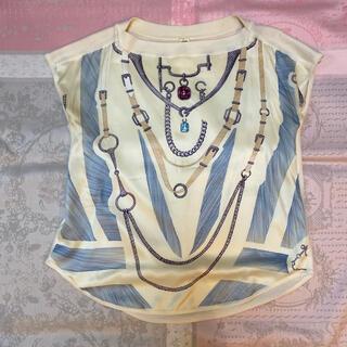 エルメス(Hermes)の美品エルメス2018シルクカシミア34(カットソー(半袖/袖なし))