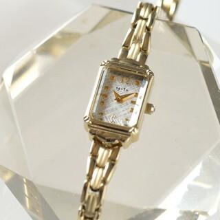 アガット(agete)のagete アガット スクエア 腕時計 ゴールド(腕時計)