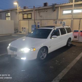 ボルボ(Volvo)の車検付き!ボルボv70 サンルーフ 黒革 Androidナビ(車体)