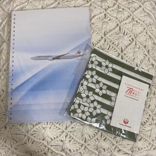 ジャル(ニホンコウクウ)(JAL(日本航空))のノート ハンカチ(ハンカチ)