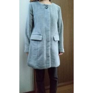 薄グレーのコート 秋〜冬用(ロングコート)