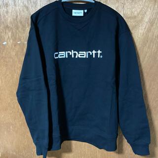 カーハート(carhartt)のcarhartt swet ブラック×ホワイト(トレーナー/スウェット)