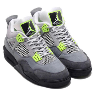 ナイキ(NIKE)のAIR JORDAN 4 RETRO SE - COOL GREY NEON(スニーカー)