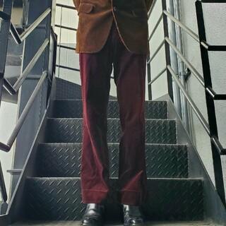 ジョンローレンスサリバン(JOHN LAWRENCE SULLIVAN)のヴィンテージ スラックス トラウザー フレアパンツ ベロア ベルベット 別珍(スラックス)