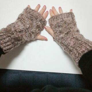 ロキシー(Roxy)の指なし手袋★グローブ★毛糸★ピンク(手袋)
