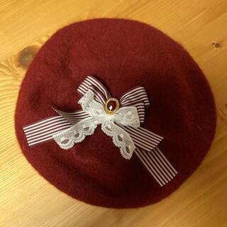 メタモルフォーゼタンドゥフィーユ(metamorphose temps de fille)のフィジカルドロップ ベレー帽(ハンチング/ベレー帽)