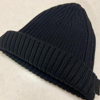 グッチ(Gucci)のグッチ ニット帽 ビーニー ブラック  ロンハーマン(ニット帽/ビーニー)
