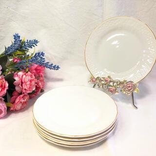 ミカサ(MIKASA)の【mikasa】elegant white 平皿 デザートプレート5枚(食器)