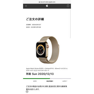 アップルウォッチ(Apple Watch)のアップルウォッチ6(腕時計(デジタル))