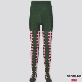 マリメッコ(marimekko)のmarimekko ユニクロ UNIQLO マリメッコ 子供 タイツ ピンク 緑(靴下/タイツ)