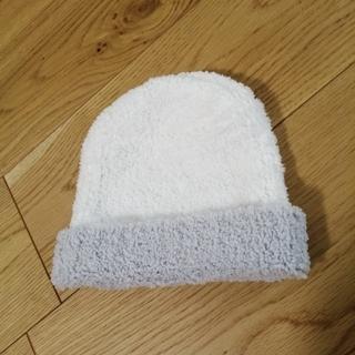 カシウエア(kashwere)のカシウェア 帽子 新品未使用 白 グレー(帽子)