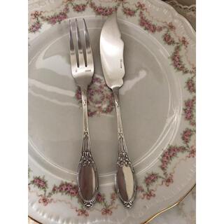 ロイヤルアルバート(ROYAL ALBERT)の最終お値下げ!フランスビンテージ  リボンモチーフが可愛い♡ナイフとフォーク(カトラリー/箸)