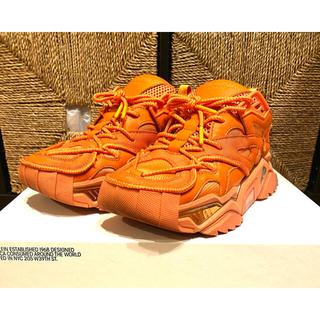 カルバンクライン(Calvin Klein)のカルバンクライン ラフシモンズ スニーカー オレンジ(スニーカー)