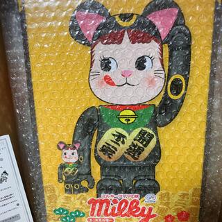 BE@RBRICK 招き猫 ペコちゃん 黒メッキ 100% & 400%不二家 (その他)
