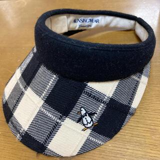 マンシングウェア(Munsingwear)のmunsingwear サンバイザー 白黒 レディース USED(サンバイザー)