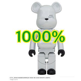 メディコムトイ(MEDICOM TOY)のBE@RBRICK×NIKE SB 2020 WHITE 1000%(その他)