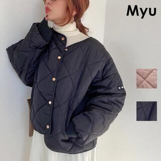 ユニクロ(UNIQLO)のMyu キルティングオーバージャケット(ノーカラージャケット)