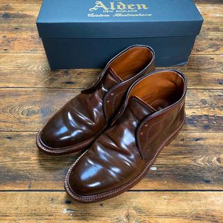 オールデン(Alden)の【極美品】Alden オールデン シガー チャッカブーツ #13132 6E(ブーツ)