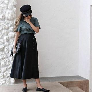 ルームサンマルロクコンテンポラリー(room306 CONTEMPORARY)の値下げ★room306 Dsign Button Lool Maxi Skirt(ロングスカート)