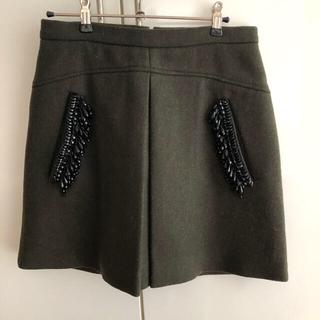 ヌメロヴェントゥーノ(N°21)のN°21★ヌメロヴェントゥーノ ビジュー膝上スカート(ひざ丈スカート)