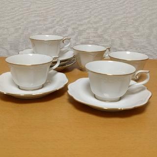 ノリタケ(Noritake)のノリタケ  アイボリーチャイナ カップ ソーサー 5 客(食器)