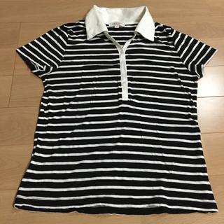 マリクレール(Marie Claire)のmarieclaireボーダーポロシャツ(ポロシャツ)
