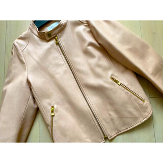 トランテアンソンドゥモード(31 Sons de mode)の美品 31sdm ピンクライダース(ライダースジャケット)
